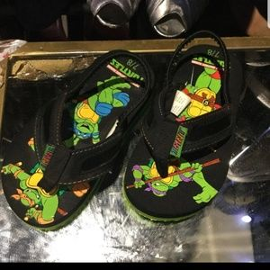 Teenage Mutant Ninja Turtles boys flip-flops size